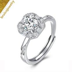 Kundenspezifische der Form-Schmucksache-deluxe 18K 14K 9K silberner Ring Golddiamant-Hochzeits-der Schmucksache-925