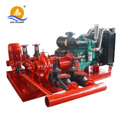 Motor diesel equipamento de combate a incêndio horizontal do conjunto de bomba de água