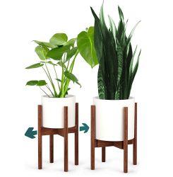 Herramientas de jardinería madera Mobiliario de casa de madera stand Stand de plantas de flores de madera