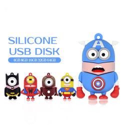 ODM OEM Bonitinha Super herói Unidade Flash USB Criança personagem do filme pendrive USB com o dom do logotipo do pacote