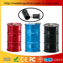 Personality Oil Barrel Metal Usb Flash Drive / Aluminium Alloy Ronde Kolom Usb Stick