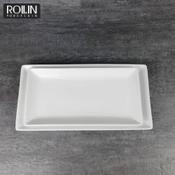 China fina porcelana Dinnerware retangular placa rectangular