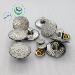 바지를 위한 합금 단추를 또는 재킷 또는 외투 인쇄하는 20mm 관례 금속 꽃