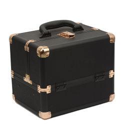 Heiße Verkaufs-schwarzer Glanzleder-Verfassungs-Serien-Kasten-Schmucksache-Kasten-Kosmetik-Organisator