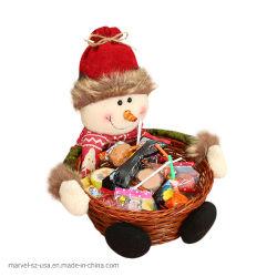 Weihnachtssüßigkeit-Weihnachtsmann-Speicher-Korb-Dekoration-Geschenk-Ausgangsdekorationen