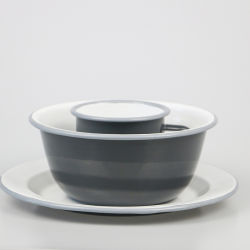 高品質の無鉛エナメルのデザート用深皿のフルーツの版