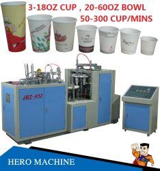 Tazza di carta di formazione automatica manuale ad alta velocità venduta del tè del caffè del piatto di carta della Cina Corea di marca dell'eroe 80countrys che fa prezzo della macchina