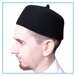 Usine de haute qualité de gros feutre de laine Fès prière musulmane Cap avec pointe