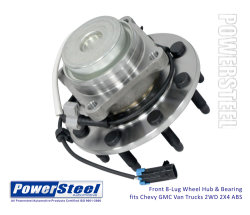 515059, 18061146, 29515059 -19149001, -25840786, tracción delantera-Cubo-&-Bearing-Assembly-Fits-Chevy Express-2500-3500-Gmc-2WD-ABS