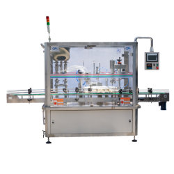 La limitación de llenado de líquido de la línea de producción de máquinas de embalaje cosméticos
