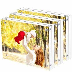 Tamanhos personalizados em acrílico transparente Foto magnéticos fortes estruturas de bloco