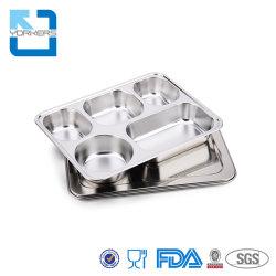 Cassetto di Mess del self-service della casella di pranzo dell'acciaio inossidabile del piatto del servizio del metallo del banco