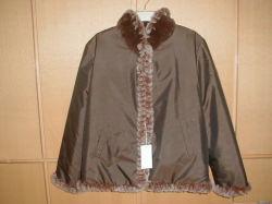 Kaninchen-Pelz-gestrickter und Silk umschaltbarer Mantel