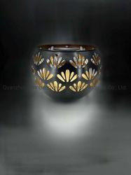 Lanterne solaire LED Bowl-Shape métal fleur pleine Patterns sculpté creux