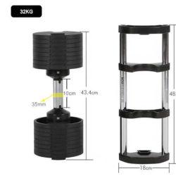 Plástico de HGS Barbell pesa ajustable para el ejercicio del Cuerpo de gimnasio