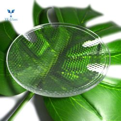 Pressionado por grosso de vidro transparente a iluminação externa da tampa da lâmpada de vidro