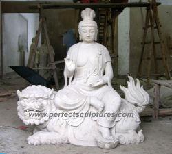 Mobiliário antigo Templo de Buda de Escultura em granito com pedra estátua de mármore (SY-T117)