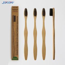 Настраиваемые бамбук зубная щетка с активированным углем для взрослых экологически безопасные Мягкие щетинки зубной щетки