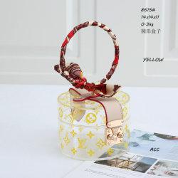 Monograma clásico cuadro de la marca de cosméticos damas la réplica diseñador de Venta Directa de Fábrica de cosméticos de color amarillo transparente cuadro clásico de la moda de lujo bolsos bolsas