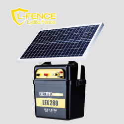 30km Farm High Voltage Solar Controller Electric Fence Energizer와 함께 솔라 패널