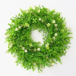 Оптовая торговля свадьбы Home рождественские украшения зеленые листья искусственного Гарланд