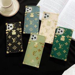 Marque de luxe Designer cas Téléphone pour iPhone 11 PRO LV Cas couvercle transparent de protection Shell pour iPhone 12 Couvercle arrière