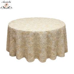 Populares fita bordada Bordados Casamento Sobreposição de mesa Toalha de mesa das tampas da mesa
