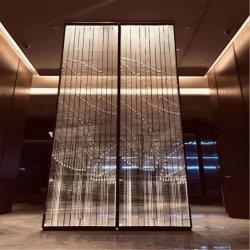 Glas van de Plaat van het Kristal van de Decoratie van de Kunst van China het In het groot voor Bouwmaterialen