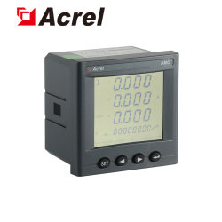 Amc96L-E4/kc AC Trois Phase 3p4w multifonction numérique programmable électrique intelligent Smart RS485 Modbus RTU mesureur de puissance de l'énergie en Kwh mètre pour armoire de commande