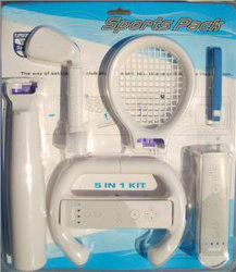 5 Wii (Wiiの付属品)のための1つのスポーツのパックのキットで(OS-010101)