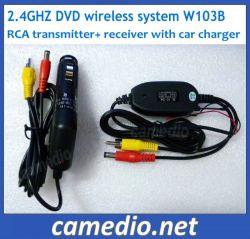 2,4Ghz transmissor e receptor de vídeo sem fio para carro monitora&DVD