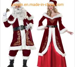 크리스마스 산타클로스 의상 성인 남녀가 걸쭉한 커플 크리스마스 복장 산타클로스 복장