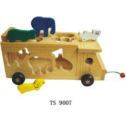 Kid Zoo Animal Carro do Bloco de Madeira