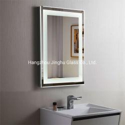 Интерьер отеля в стену декоративные антизапотеватель сенсорного переключателя регулировки яркости подсветки зеркала в ванной комнате с подсветкой с подсветкой светится светодиод наружного зеркала заднего вида