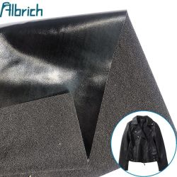 2020 年最も普及した 0.4 mm の黒い PU の衣服の革