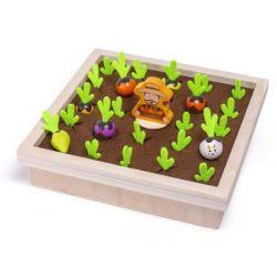 도매 어린이 목재장난감 계몽주의 초기 교육 장난감 재밌는 기억 게임 팜 당근