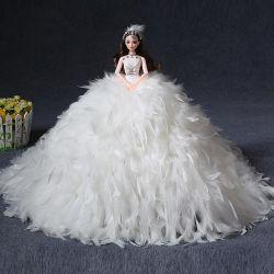Bonecos de plástico de 11 polegadas com vestido de casamento, menina Brinquedos, bonecas de casamento