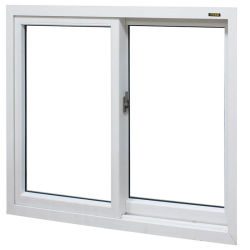 """Доуле контакт 3 PVC рамы вертикального полой двери и Блэк Сэш"""" дверная рама перемещена UPVC современной опускное стекло"""