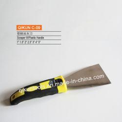 C-09 Schraper van het Roestvrij staal van het Handvat van de Hulpmiddelen van de Hand van de Verf van de Decoratie van de bouw de Plastic Spiegel Opgepoetste