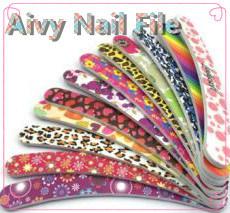 Salón de uñas de la fábrica de productos profesionales de la Nano desechables logotipo Personalizar Pincel de Nail File
