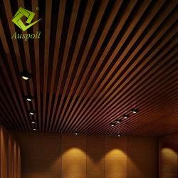Soffitto di alluminio del deflettore del metallo del tubo del quadrato di U-Figura del nuovo grano di legno di arrivo
