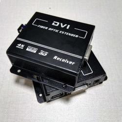 1080P DVI Extender sobre fibra con teclado y ratón extensor KVM ofrece soporte para DVI y HDMI V1.4 (DVI-2000)