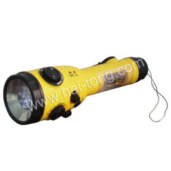 Chargeur de téléphone portable Lampe torche à LED de FAC a approuvé ce Radio à manivelle (HT-3068)