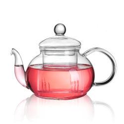 Europäischer Entwurfs-Glastee-Potenziometer mit Infuser Pyrex Glas-Teekanne-Glaskaffee-Teekanne