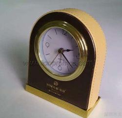 Отель Номера на прикроватном мониторе PU таблица часы Quatz древесины из натуральной кожи