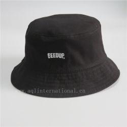 方法デザイン可逆バケツの帽子の黒の綿のバケツの帽子の帽子