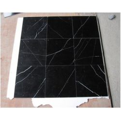 La piedra natural baldosa de mármol Negro Marquina