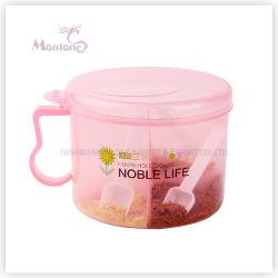Supporto del condimento del contenitore del contenitore di bottiglia della spezia del condimento dei 4 scompartimenti