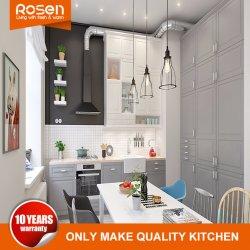 Moderner MDF mit Melamin-Ausgangsentwurfs-Küche-Schrank-Möbeln