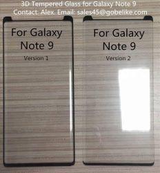 2018 Nouveau verre trempé incurvé 3D de la gamme Protection Ecran pour Samsung Galaxy Note 9